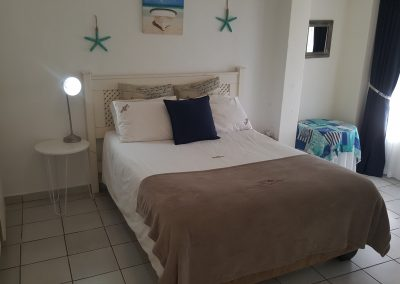 Main bedroom with double bed.