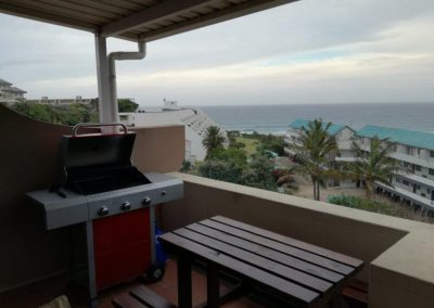 Gas braai on private balcony